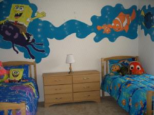 spongebob na ścianie
